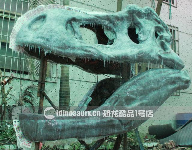仿真恐龙骨架的制作-玻璃钢翻模