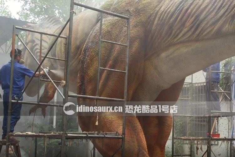 仿真恐龙-喷色工艺流程