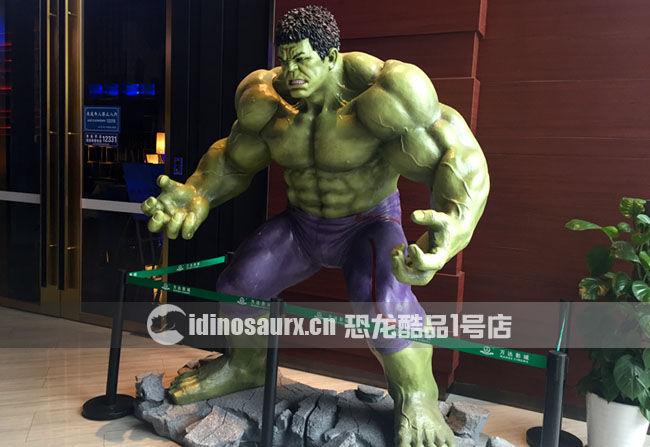 玻璃钢卡通人物雕塑-绿巨人