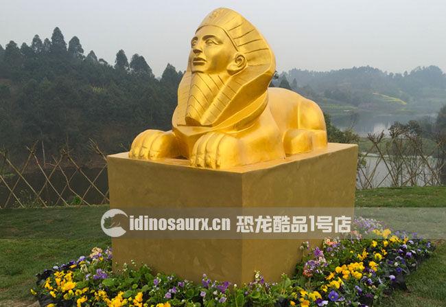 玻璃钢卡通景观雕塑-狮身人面像