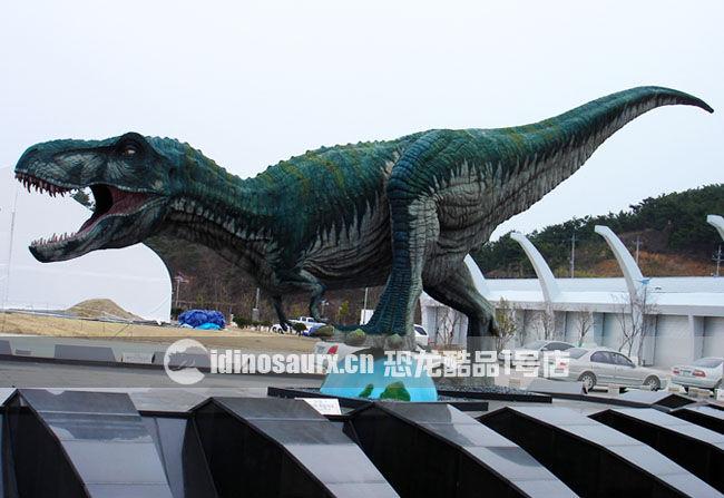 玻璃钢恐龙景观雕塑-暴龙雕塑