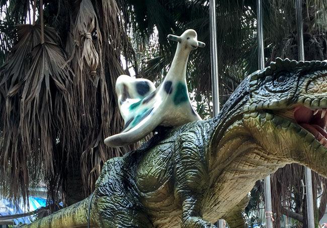 电子恐龙骑乘配件-骑椅