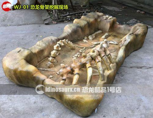 恐龙骨架挖掘现场