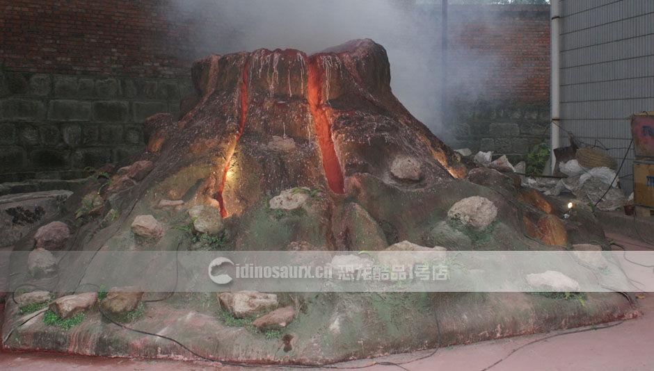侏罗纪火山模型