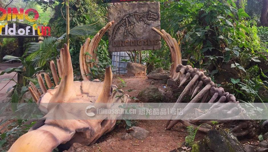 恐龙化石遗迹现场