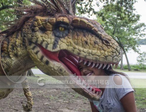 互动机器恐龙模型的娱乐属性