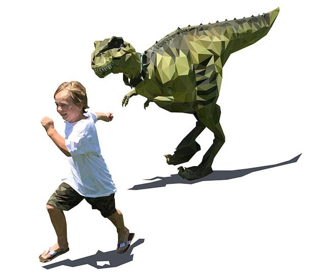 藏腿恐龙服设计