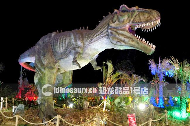 大型仿真电动霸王龙在丹诺恐龙公园