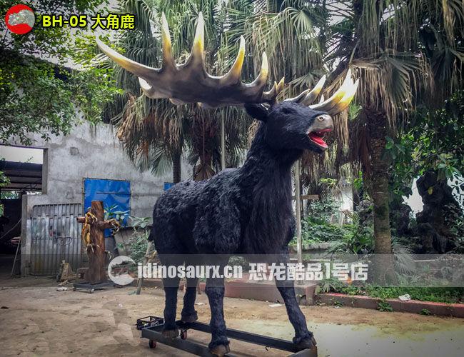 仿真冰河动物-大角鹿模型