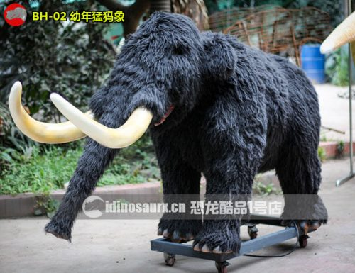 仿真冰河动物-幼年猛犸象模型