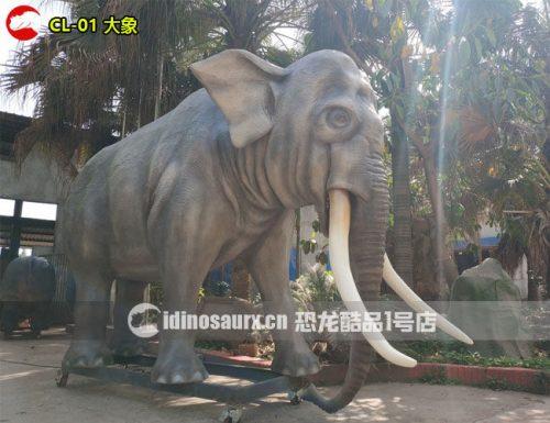 仿真大象-丛林动物模型