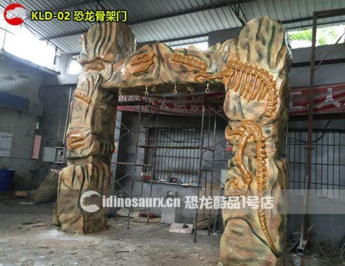 玻璃钢恐龙骨架门