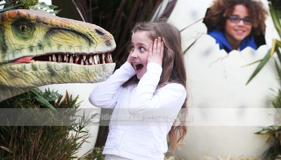 儿童乐园恐龙展品