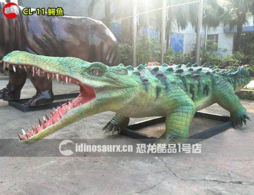 电动鳄鱼模型