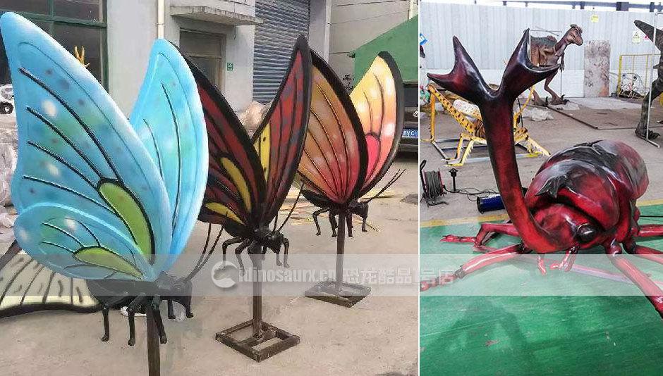 古生物馆昆虫模型展品装饰