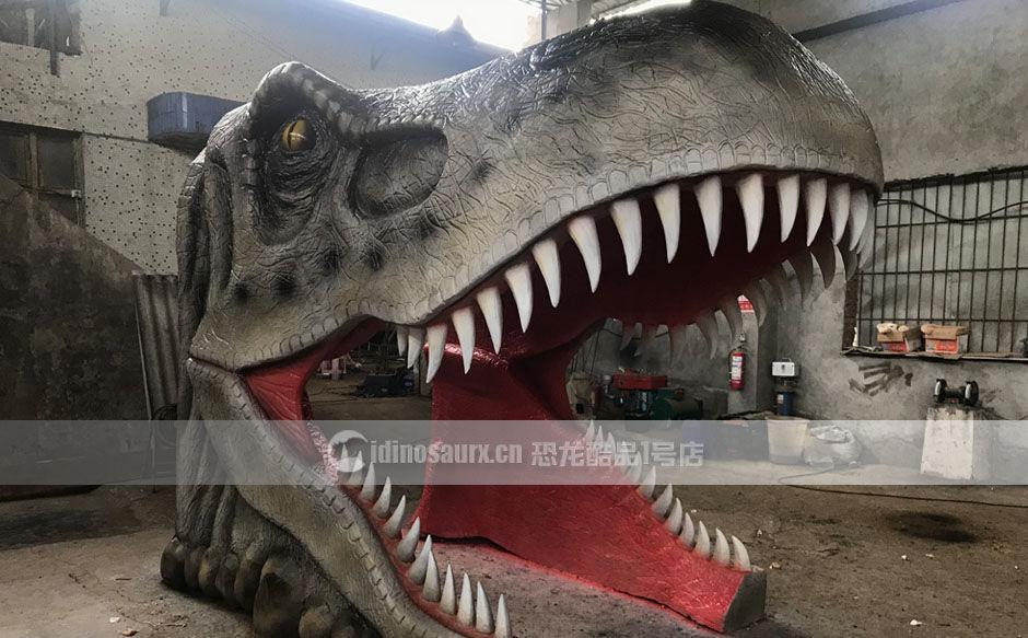 仿真恐龙头隧道景观