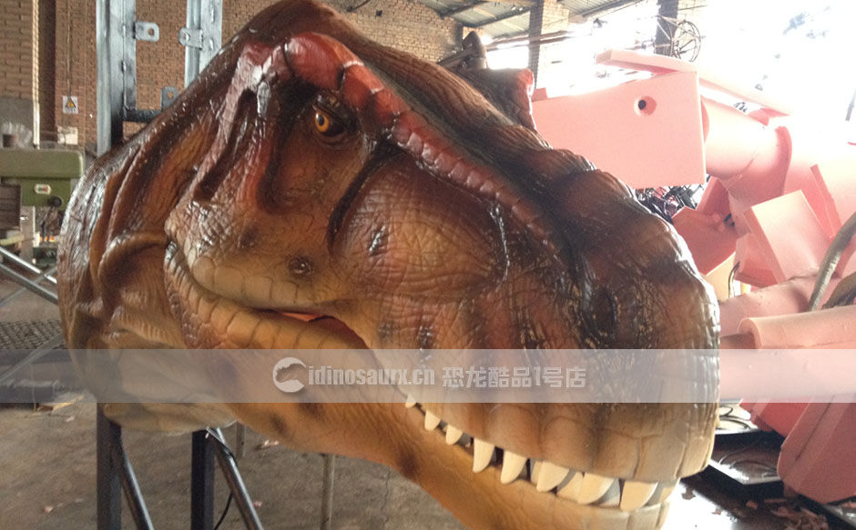 电传恐龙头装饰模型