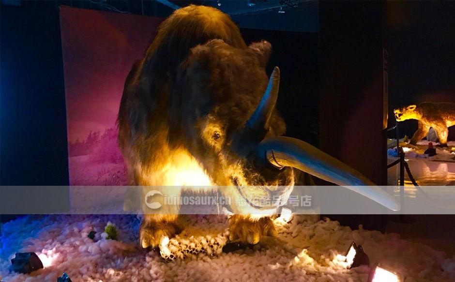 复原冰河世纪动物模型