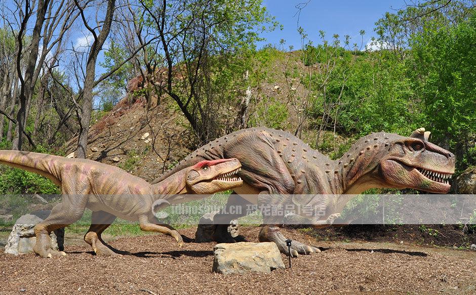 仿真恐龙装饰山林景区