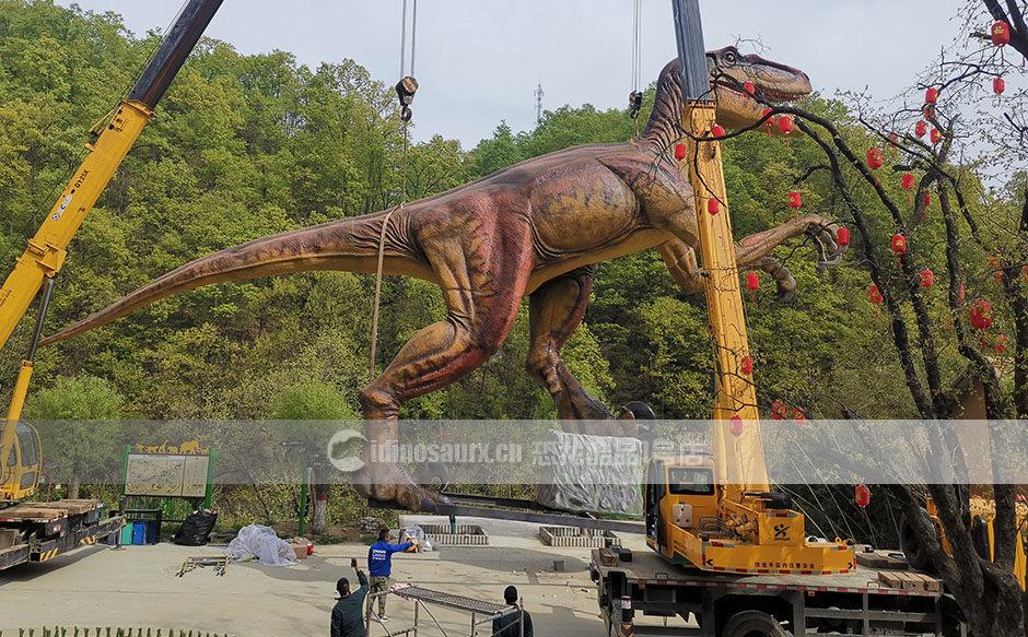 安装大型电动仿真恐龙