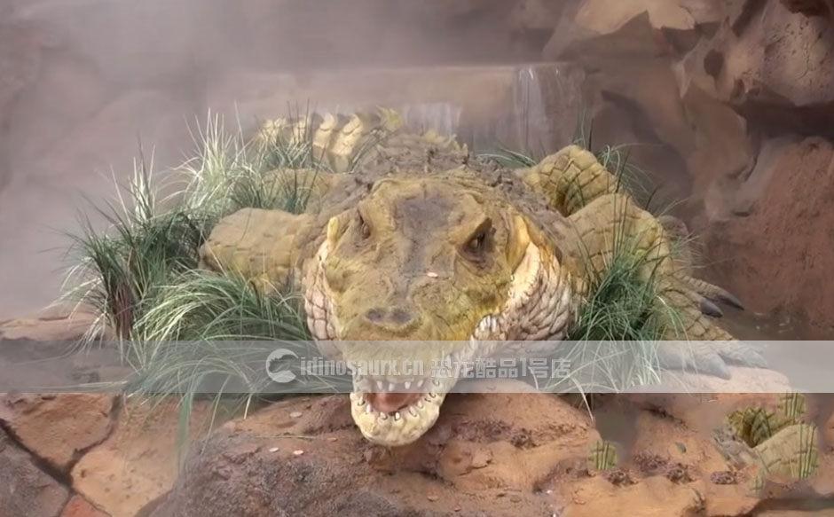 沼泽动物鳄鱼模型